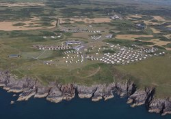 Burrowhead Holiday Village holiday in dumfries & galloway - A bird's eye view of Burrowhead.