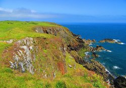 Cliff walks - This is the view of our coastline at Burrowhead!