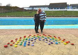 Family holidays in Dumfries & Galloway - The outdoor swimming pool at Burrowhead Holiday Village