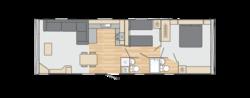 Floorplan of Holiday Home/Static caravan
