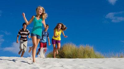 Kids having fun during their holiday