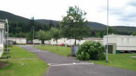 Park area of Ballater Caravan Park, Aberdeenshire