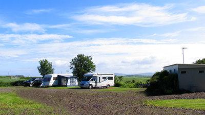 A view across the caravan site