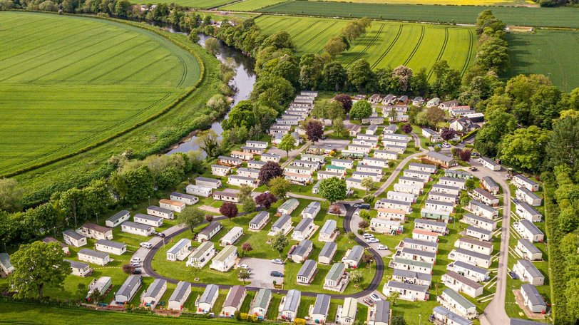 Aerial view of the park - Newbus Grange Country Park, Durham