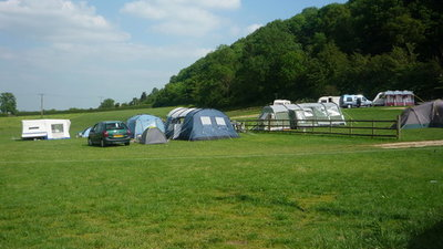 Caravans on the site