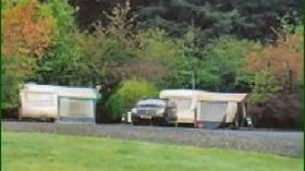 Caravans on the caravan park