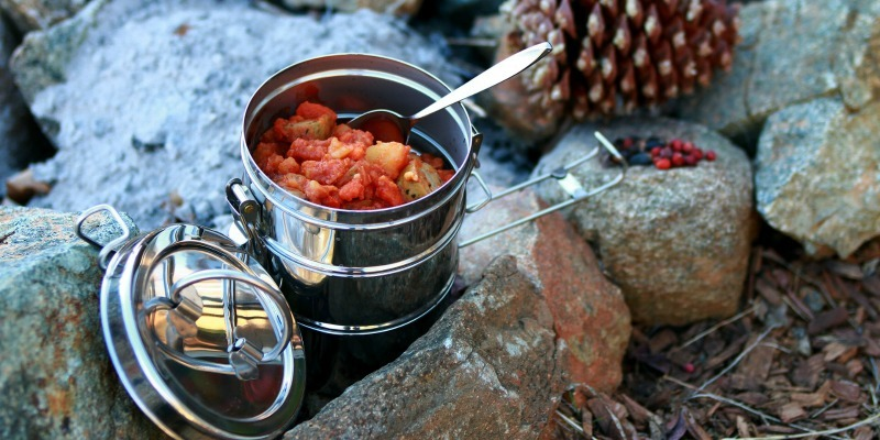 One-pot-camping recipes - Sausage and bean casserole