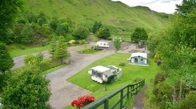 Tourers and camping on the caravan park