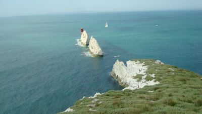 The Needles - Visit the Isle of Wight and see the Needles, the iconic chalk rocks in the Solent  (© Kate Taylor)