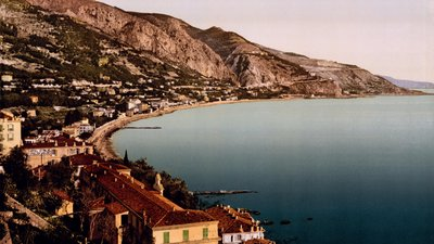 In the region - Menton, Cote d'Azur, France (© By …trialsanderrors (Menton, Cote d'Azur, France, ca. 1889) [CC BY 2.0 (http://creativecommons.org/licenses/by/2.0)], via Wikimedia Commons (original photo: https://commons.wikimedia.org/wiki/File:Flickr_-_%E2%80%A6trialsanderrors_-_Menton,_Cote_d%27Azur,_France,_ca._1889.jpg))