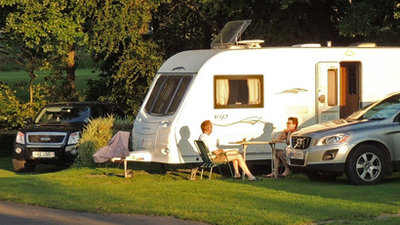 Three Castles Country Caravan Park's touring field