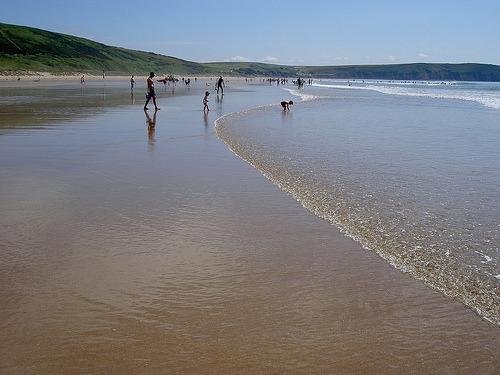 Photo of Woolacombe's award winning beach