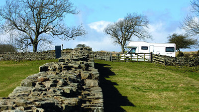 Visit Hadrian's Wall  - Walk along Hadrian's Wall and see Roman ruins during your tent camping, motorhome and caravan holidays in Northumberland, based at Border Forest Caravan Park (© Practical Motorhome / Caravan Sitefinder)