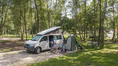 Our motorhome pitches