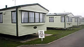 Static caravans on the site