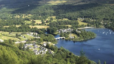 Kenmore aerial photograph of the area near the caravan site - Kenmore and Loch Tay