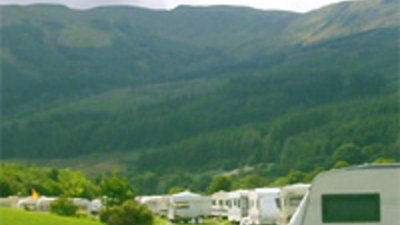 Lovely view on the caravan site and the mountain views