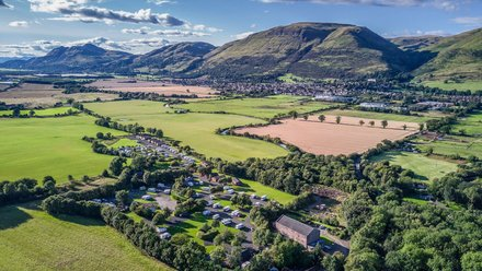 Holidays in Stirlingshire - Aerial view of The Woods Caravan Park