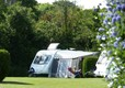 Touring caravan on the site