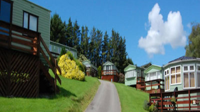 Our Static caravans - view on the park