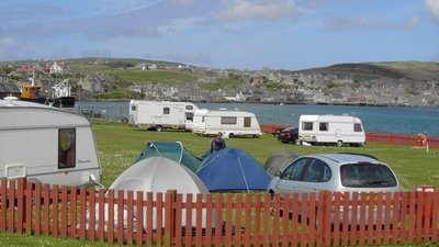 Touring and camping on the caravan site