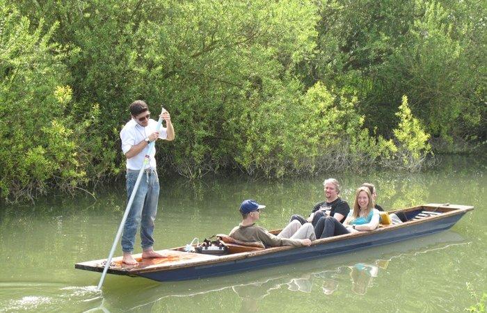 Punts on River Granta