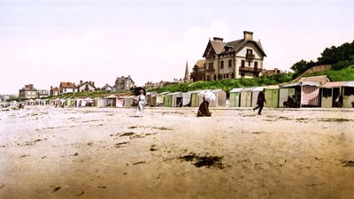 The beach, Saint-Pair-sur-Mer, Normandy (© By …trialsanderrors [CC BY 2.0 (http://creativecommons.org/licenses/by/2.0)], via Wikimedia Commons (original photo: https://commons.wikimedia.org/wiki/File:Flickr_-_%E2%80%A6trialsanderrors_-_The_beach,_Saint-Pair-sur-Mer,_Normandy,_France,_ca._1895.jpg))