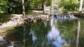 In the region - Yerres river in Pompierre, Seine et Marne (© By Pline (Own work) [GFDL (http://www.gnu.org/copyleft/fdl.html) or CC BY-SA 3.0 (http://creativecommons.org/licenses/by-sa/3.0)], via Wikimedia Commons (GFDL copy: https://en.wikipedia.org/wiki/GNU_Free_Documentation_License, original photo: https://commons.wikimedia.org/wiki/File:Yerres_river_in_Pompierre_Seine_et_Marne_P1090110.JPG))