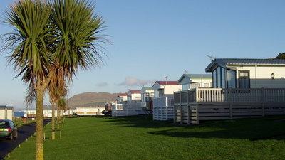 Caravans on Bennane Shore Holiday Park & Pebbles Spa, Ayrshire, Scotland