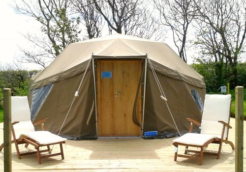 Photo of Camping pod: Geo Dome with Hot Tub