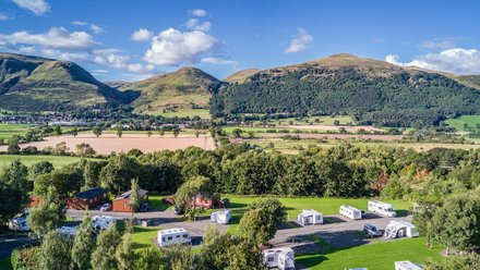 Stunning views of the Ochils at The Woods Caravan Park