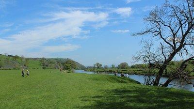 River in Merseyside near the caravan site