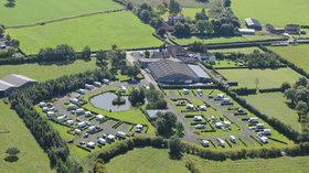 Aerial photo of York Caravan Park (© YCP)