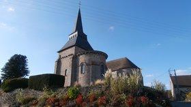 Church Saint Martin in Boussac-Bourg (© By Aubussonais (Own work) [CC BY-SA 4.0 (http://creativecommons.org/licenses/by-sa/4.0)], via Wikimedia Commons (original photo: https://commons.wikimedia.org/wiki/File:%C3%89glise_Saint-Martin_de_Boussac-Bourg.JPG_)