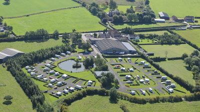 Aerial photo of York Caravan Park (© YCP)