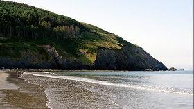 Beach near the park