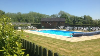 Our swimming pool - Twin Rivers Holiday Park heated swimming pool