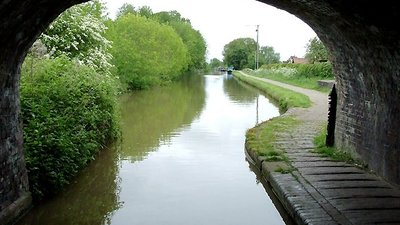 Shropshire Union Canal at Nantwich (© Roger Kidd [CC BY-SA 2.0 (https://creativecommons.org/licenses/by-sa/2.0)], via Wikimedia Commons (original photo: https://commons.wikimedia.org/wiki/File:Shropshire_Union_Canal_at_Nantwich,_Cheshire_-_geograph.org.uk_-_1705185.jpg))