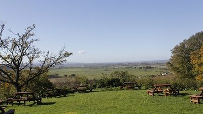 Beautiful view from the park - Changing Seasons - view of the Somerset Levels & Moors taken from behind the Mad Hatters Bar
