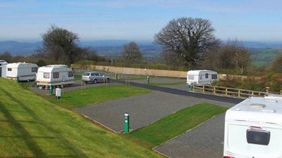 Photo of the touring field at Wheathill Touring Park