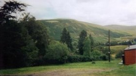 Green area with woodlands near the caravan site