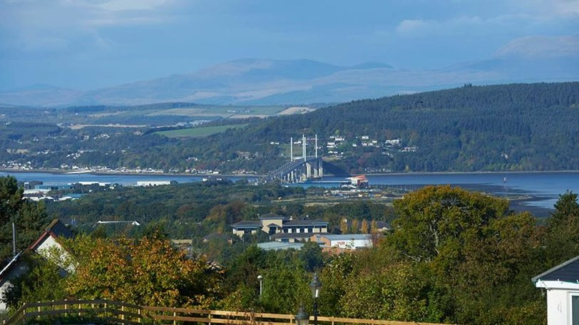 Kessock Bridge from Ardtower Caravan Park - The view of Kessock Bridge from Ardtower Caravan Park
