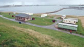 View on the caravan park from the top