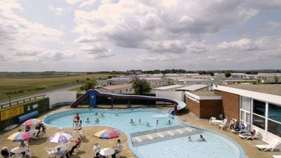 Outdoor pool at Barmston Beach