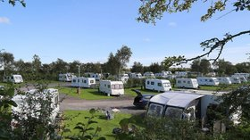 Eastham Hall Holiday Park - tourers on the caravan park