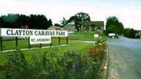 Sign for the caravan park