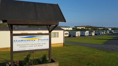 Sign on the caravan site