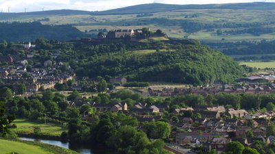 Stirling Castle and Surroundings close to the caravan site (© By Janfrie1988 (Own work) [Public domain], via Wikimedia Commons)