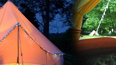 Edinburgh Festival Camping and Glamping Village Luxury Bell Tent
