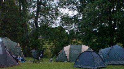 Tents on Lagganbeg Caravan Park